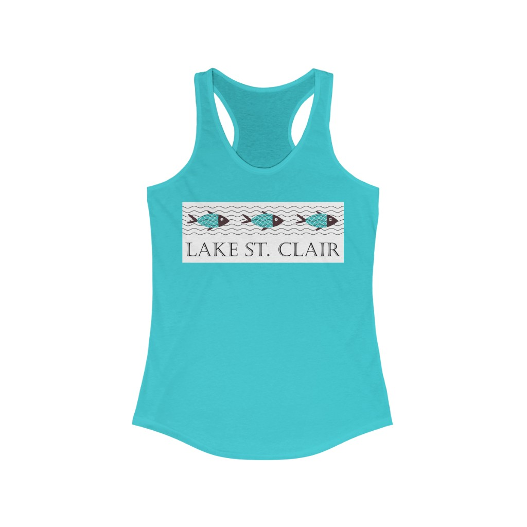Racerback Tank – LAKE ST. CLAIR with Fish