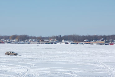 Art Ready to Hang – Photo – WINTER ICE on Lake St. Clair – 7612